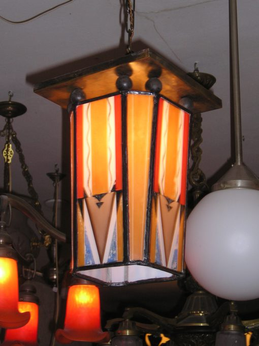 art deco plafond lamp