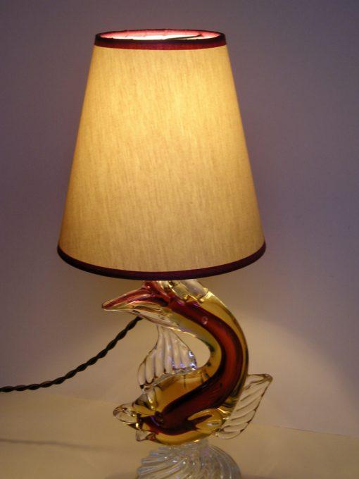 Glazen vis lamp art-deco