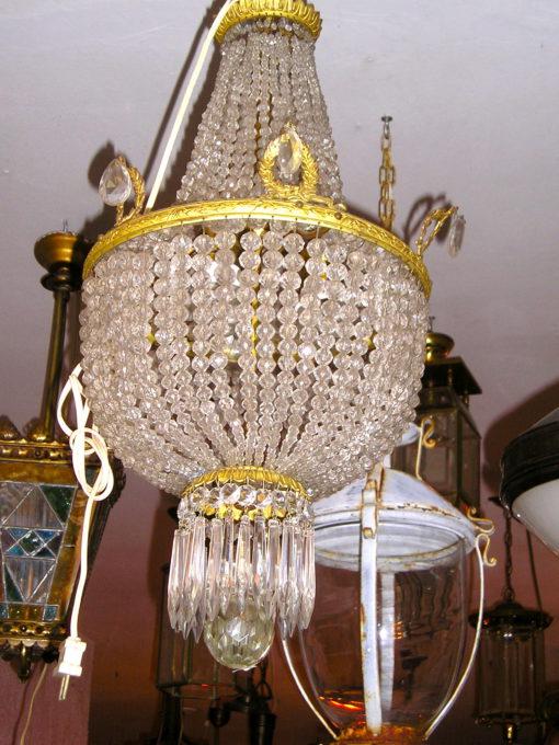 jugendstil crystal lamp