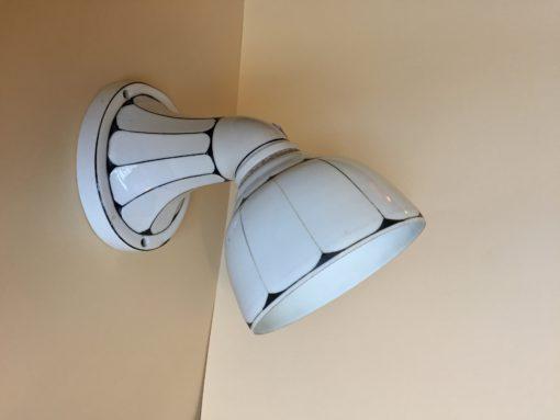 wand lamp art-deco keramiek